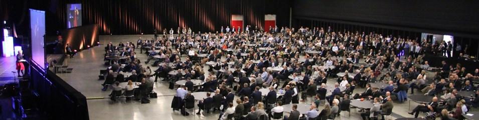 Statsminister Erna Solberg snakket til en fullsatt sal